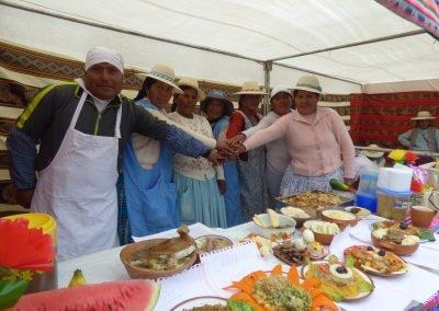 Beneficiarios en Concurso de Platos Nutritivos