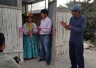 Inauguración del galpón mecanizado a cargo de Southern Perú y Municipalidad distrital de Torata sector 12 Quebradas.