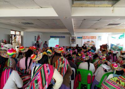 Presentación del proyecto a beneficiarios de Coata