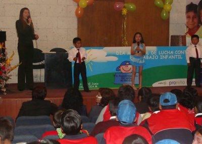 Estimulando la creatividad y promoviendo el respeto a los derechos del niño, niña y adolescente.