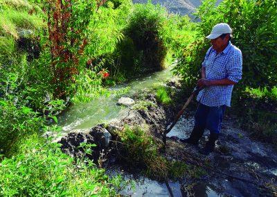 Pérididas de agua en canales de regadío